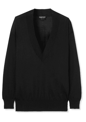 TOM FORD - Cashmere And Silk-blend Sweater - Black