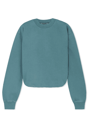alexanderwang.t - Cotton-jersey Sweater - Teal