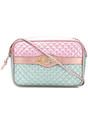Gucci Laminated leather small shoulder bag - PINK