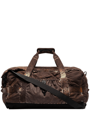 Stone Island mottled camo print holdall bag - Brown