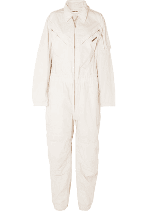 AMBUSH® - Convertible Embroidered Cotton-canvas Jumpsuit - White