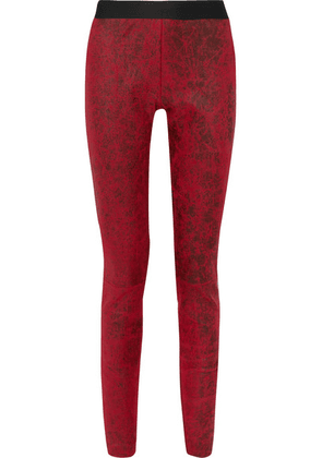Ann Demeulemeester - Coated Leather Leggings - Red