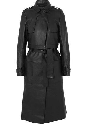 RtA - Harlow Leather Trench Coat - Black