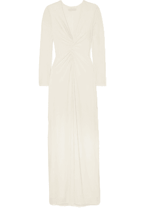 Halston - Ruched Stretch-jersey Gown - White