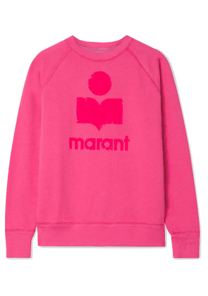 Isabel Marant Étoile - Milly Flocked Cotton-blend Jersey Sweatshirt - Fuchsia