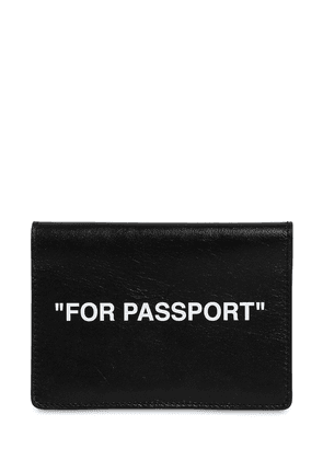 'passport' Leather Holder