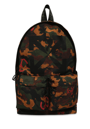 Print Camo Arrow Tech Canvas Backpack