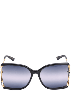 Squared Metal Sunglasses W/ Degradé Lens