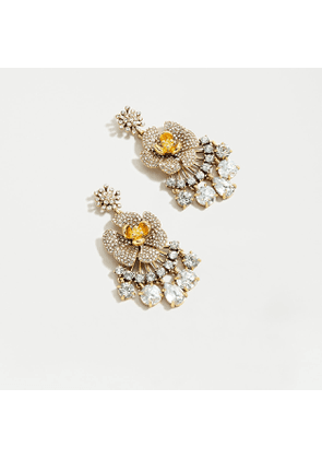 Icicle flower pavé chandelier earrings