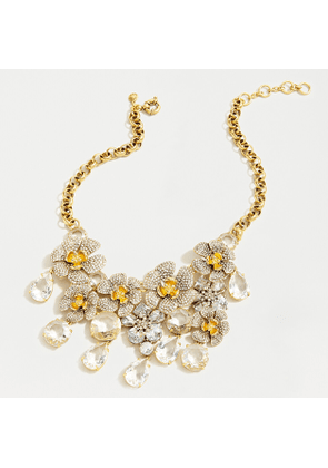 Icicle flower pavé and crystal statement necklace