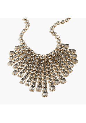 Cascading crystal necklace