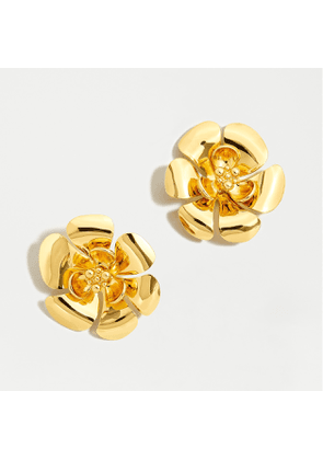 Mini gold flower stud earrings