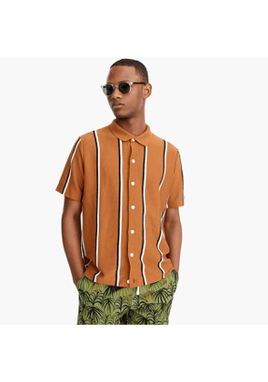 Short-sleeve polo cardigan in American Pima cotton blend with COOLMAX® technology