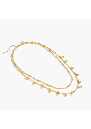 Gold double-strand necklace