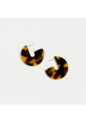 Mini disc earrings in acetate
