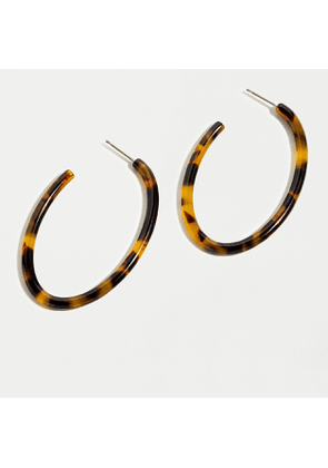 Acetate oval hoop earrings