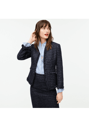 Going-out blazer in shadow houndstooth print