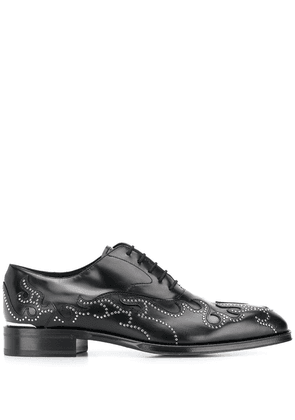 Alexander McQueen lace-up flame shoes - Black