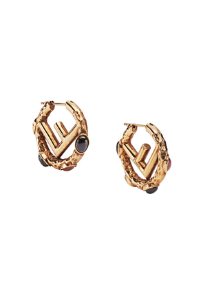 Fendi small F is for Fendi earrings - GOLD