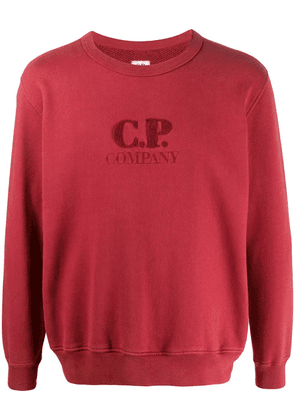 CP Company textured logo relaxed-fit sweatshirt