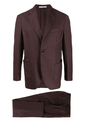 0909 single-breasted two-piece suit - Brown