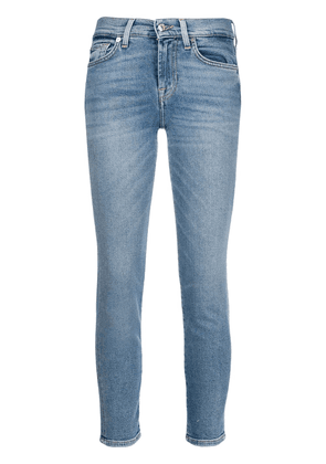 7 For All Mankind high waisted cropped denim jeans - Blue