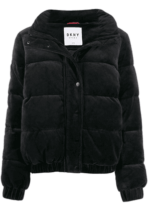 DKNY panelled puffer jacket - Black