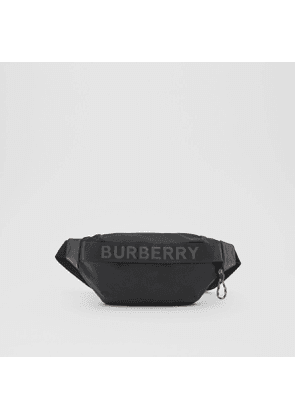 Burberry Logo Detail ECONYL Sonny Bum Bag, Black