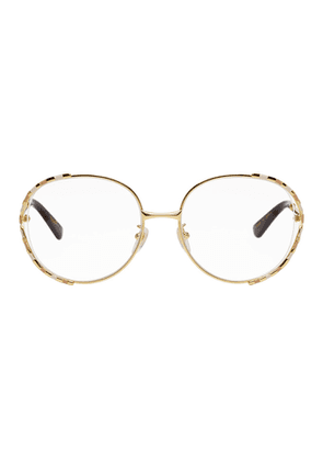 Gucci Gold and White Oversized Vintage Glasses