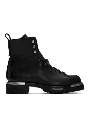 Feit Black Metal Military Hiker Boots