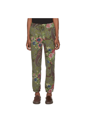 Noah NYC Green Paisley Lounge Pants