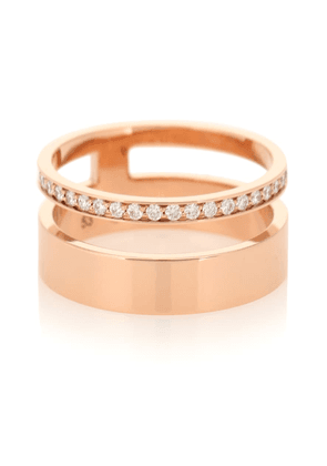Berbere Module 18kt rose-gold and diamond ring