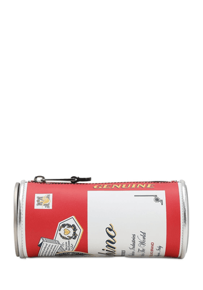 Capsule-theme Printed Leather Clutch