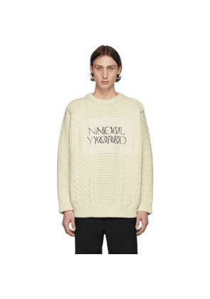 N.Hoolywood Off-White Cable Knit Will Sweater