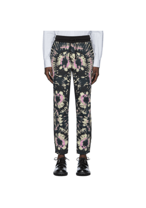 Dries Van Noten Black Tie-Dye Lounge Pants