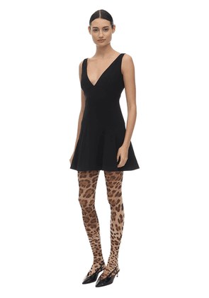Leopard Print Tulle Tights