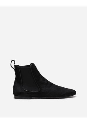 Dolce & Gabbana Boots - CHELSEA BOOTS IN PONY-STYLE CALFSKIN BLACK