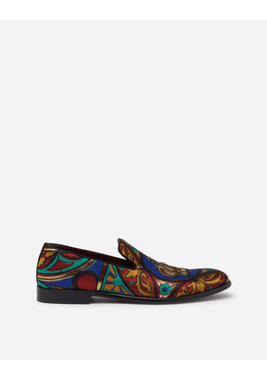 Dolce & Gabbana Loafers and Slippers - JACQUARD SLIPPERS IN STAINED GLASS WINDOW STYLE PRINT MULTICOLORED