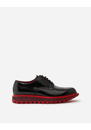Dolce & Gabbana Lace-Ups - DERBY IN ANTIK CALFSFKIN WITH EXTRA LIGHTWEIGHT TWO-TONE BOTTOM BLACK/RED