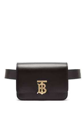 Burberry - Monogram-clasp Leather Belt Bag - Womens - Black