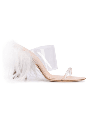 Clear Women's See-Through Strappy Mule