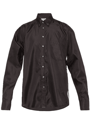 Black Men's Technical Snake Print Shirt