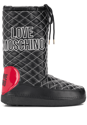 Love Moschino diamond quilted snow boots - Black