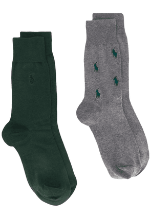 Polo Ralph Lauren two-pack embroidered logo socks - Green