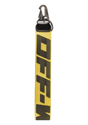 Off-White Industrial logo keyring - Yellow