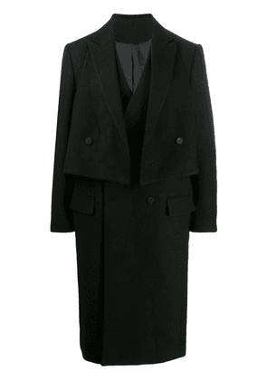D.Gnak double breasted coat - Black