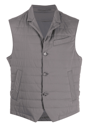 Eleventy fitted padded gilet - Grey