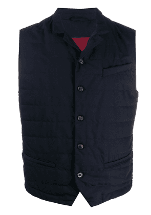 Eleventy fitted padded gilet - Blue