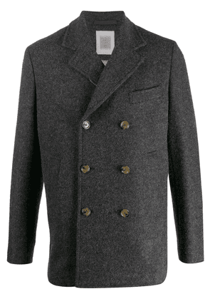 Eleventy zipped double breasted coat - Grey