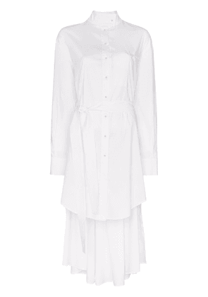 Esteban Cortazar high neck asymmetric hem dress - White